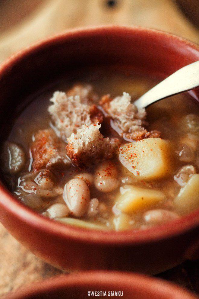 Zupa z kopru włoskiego, fasoli i ziemniaków
