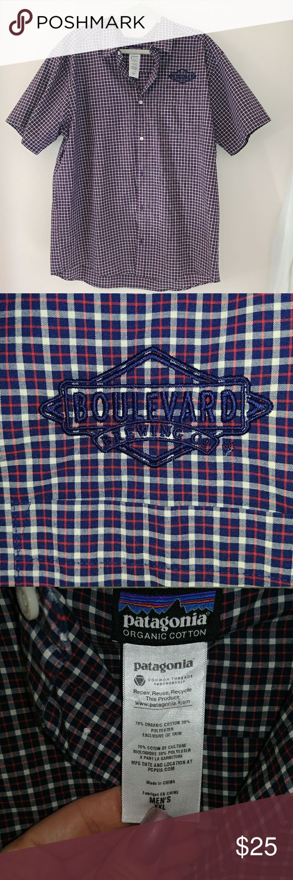 Shirt design kansas city - Mens Xxl Patagonia Shirt Boulevard Brewing Co Kansas City Mo Patagonia Shirts Casual