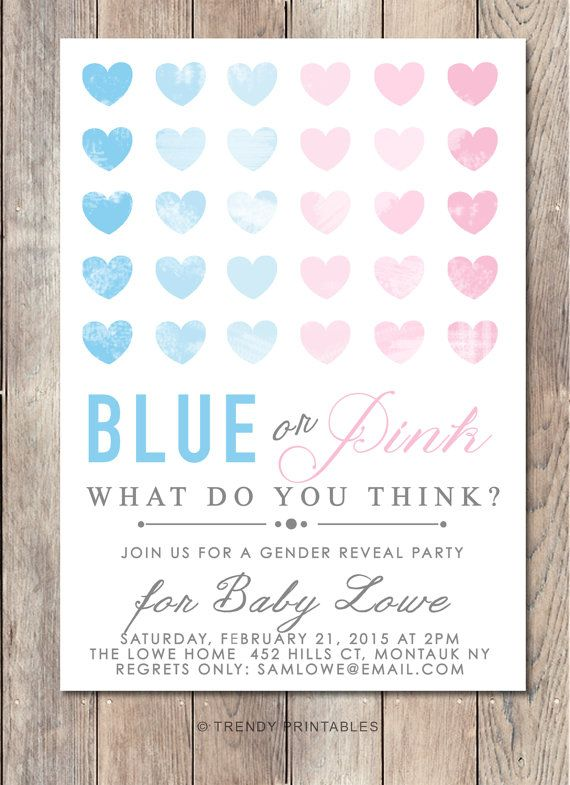 Best 25 Gender reveal invitations ideas – Baby Gender Reveal Party Invitations