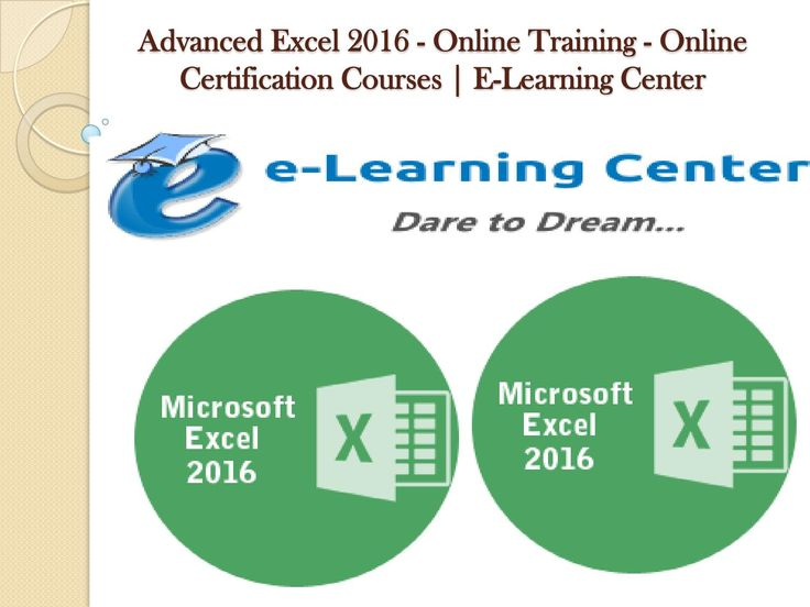 how to learn advanced excel online free