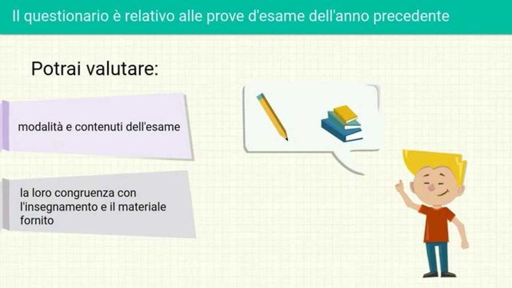 All'Università di Torino, dall'anno accademico 2015/16, è disponibile on line un nuovo questionario di valutazione degli esami riferito all'anno accademico concluso, la cui compilazione è un requisito per l'accesso agli esami successivi.