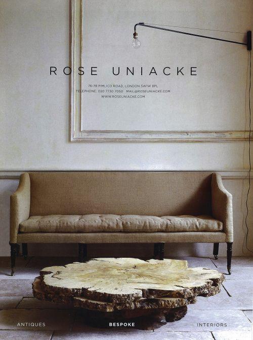 Rose Uniacke raw wood table