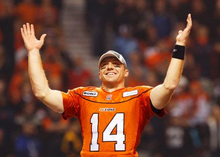 Travis Lulay, Quarterback for the B.C Lions