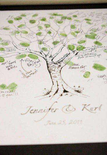 Árbol de huellas dactilares: actividades originales para una boda - Actividades originales y divertidas para una boda
