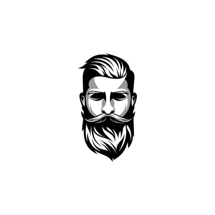 dating beard man logo
