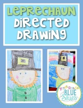 Just a quick set of instructions for guiding your class through a directed drawing of a leprechaun for St Patrick's Day.Another idea would be to leave the instructions in your writing or art station and have kids create them on their own.  There is a video to accompany the drawing activity on my blog: First Grade Blue SKies