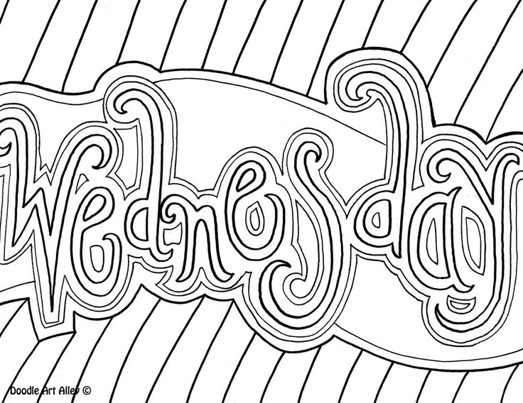 27 best doodle art images on pinterest kids coloring coloring wednesday coloring page pronofoot35fo Gallery