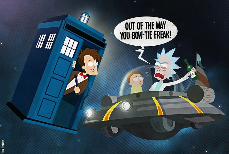 Rick Morty And The Doctor Rick And Morty Morty Disney Funny