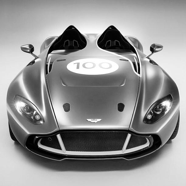 Black & White Aston Martin CC100 Speedster Concept