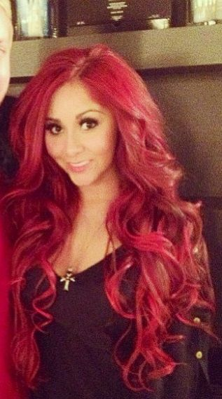 Long Red Hair♥ #snooki- omg didn't think I'd ever say this, this is gorgeous.