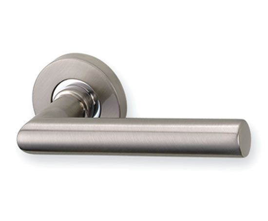 Silver look door handle