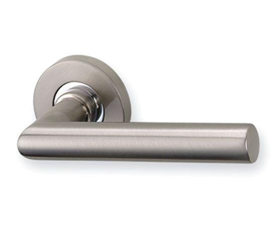 Silver look door handle