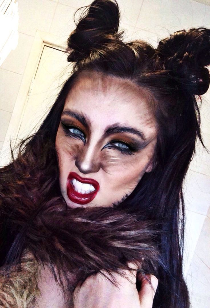 the 25 best wolf makeup ideas on pinterest wolf costume owl makeup and werewolf costume. Black Bedroom Furniture Sets. Home Design Ideas