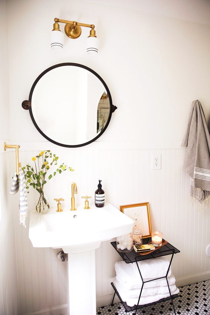 New Darlings Before & After Bathroom Reveal - Vintage Minimal Style