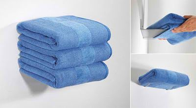 ¿Como se aguantan las toallas? Toallero invisible. #decoracion #baños