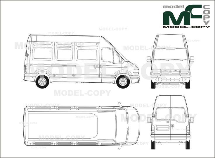 9 best autobianchi blueprints images on pinterest nissan interstar box car l3h3 2 sliding doors blueprints ai cdr malvernweather Images