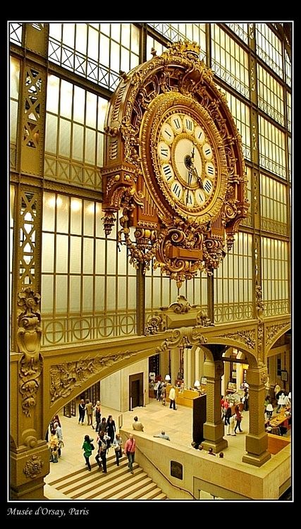 The Musée d'Orsay is housed in a grand railway station built in 1900 -- Paris  (loved this museum - better then the Louvre)