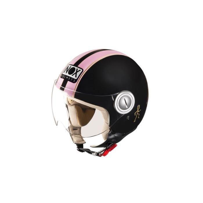 casque NOX N210 noir rose