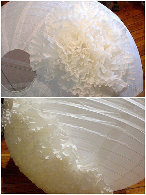 another tutorial on the coffee filter lantern