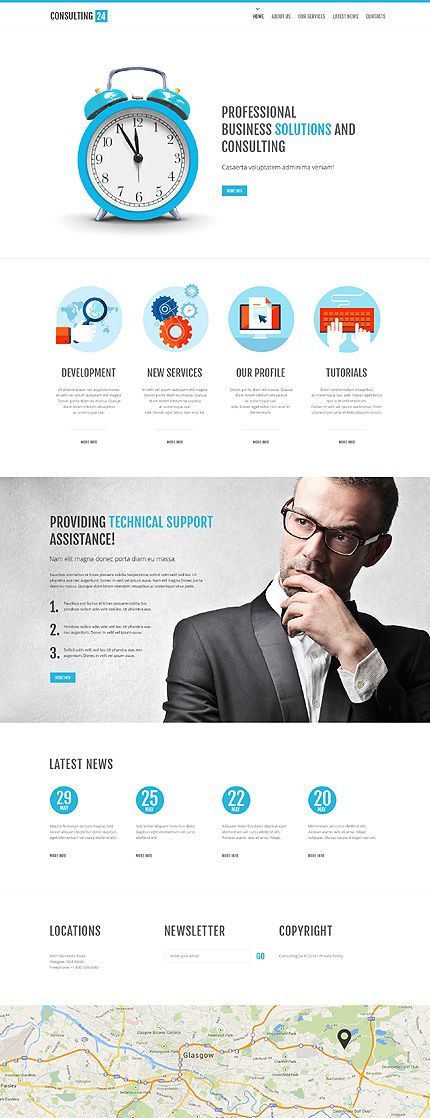 80 best javascript based website templates images on pinterest template 49529 consulting website template pronofoot35fo Choice Image