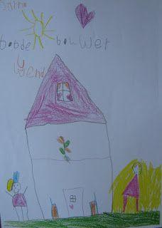 Van alles over kindertekeningen en over tekenen met kleuters als voorbereiding voor de schrijflessen in groep 3!