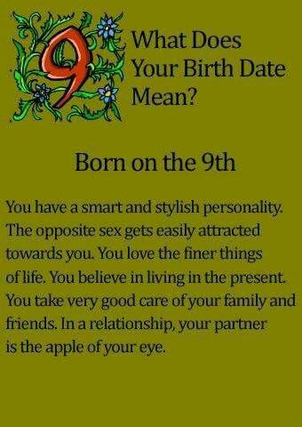 What does your birth date mean? Born on the 9th