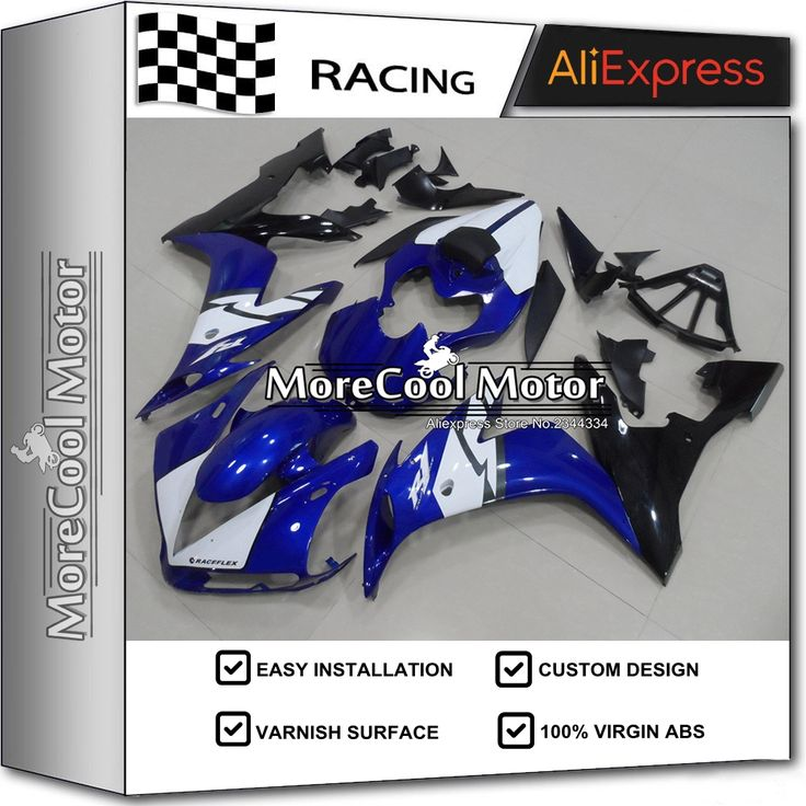 469.06$  Watch here - http://aliebl.worldwells.pw/go.php?t=32750092649 - For Yamaha R1 2004 2005 2006 Blue Painting ABS Motorcycle Fairing Kit With White Decals 04 05 06 YZF R1 Bodywork Black