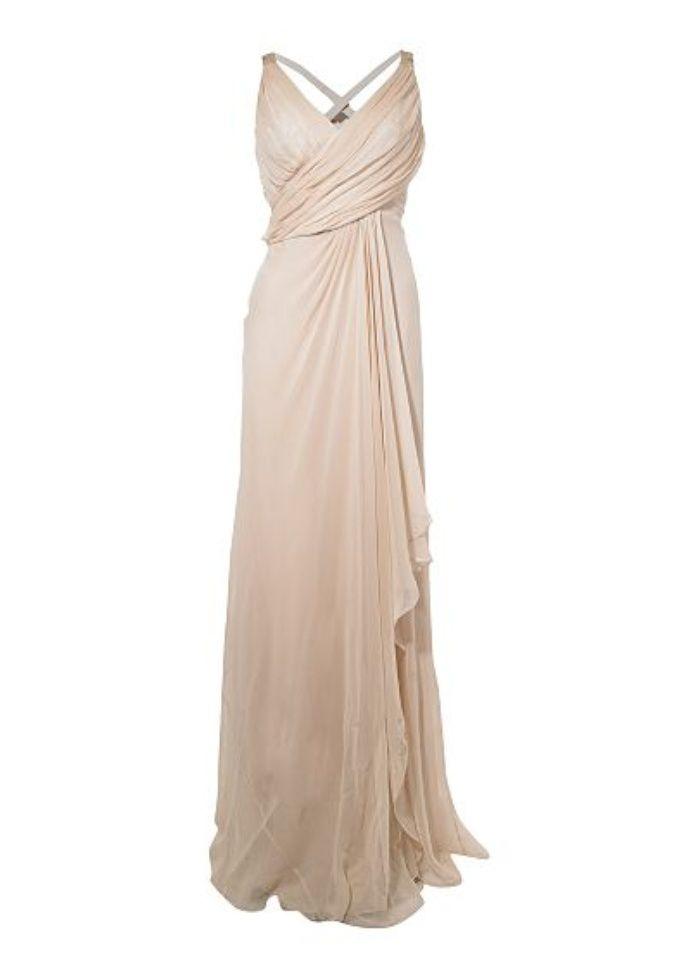 www.onewedding.co.uk Colour: Pink  Style: Sale, Column, Vintage  Dress Neckline: V-Neck  RRP: £312.00  Designer: Anoushka G