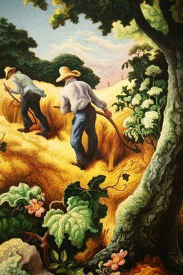 Thomas Hart Benton. Underrated American Regionalism painter, contemporary to Grant Wood. In my top 5 fave artists.
