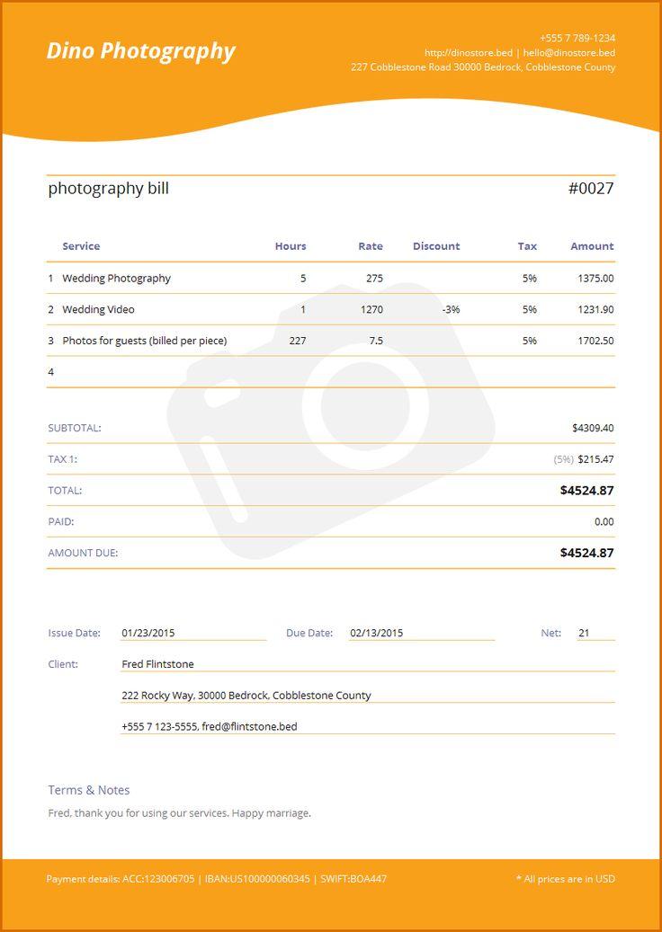 25+ unique Invoice creator ideas on Pinterest Free invoice - photography invoice template