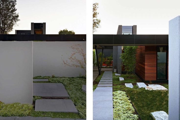 Pleysier Perkins, Architects - Hawthorn Like color combination and landscaping. East meets West.