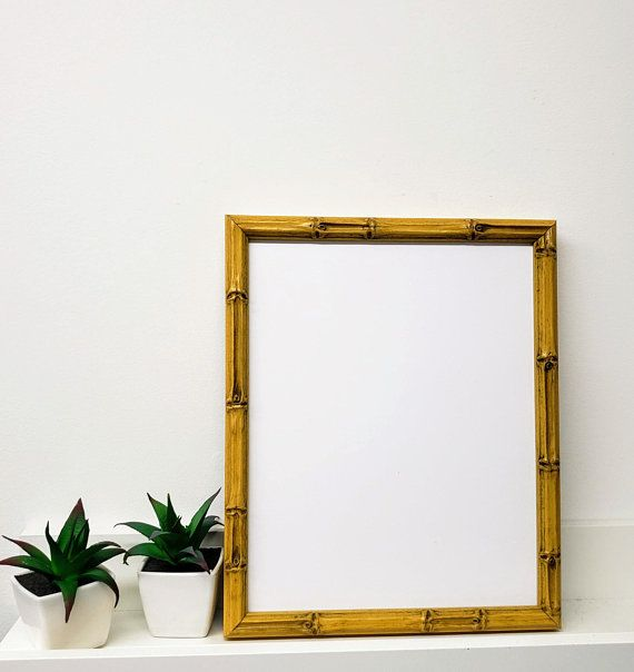 Lucky Bamboo Natural Wood Picture Frame With White Mat 8x10 Picture On Wood Bamboo Picture Frames Wood Picture Frames