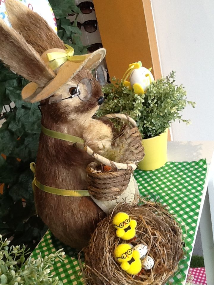 69 best easter images on pinterest bunnies eye glasses and glass easter eyewear display by through the looking glass retail window stylist melbourne australia negle Choice Image
