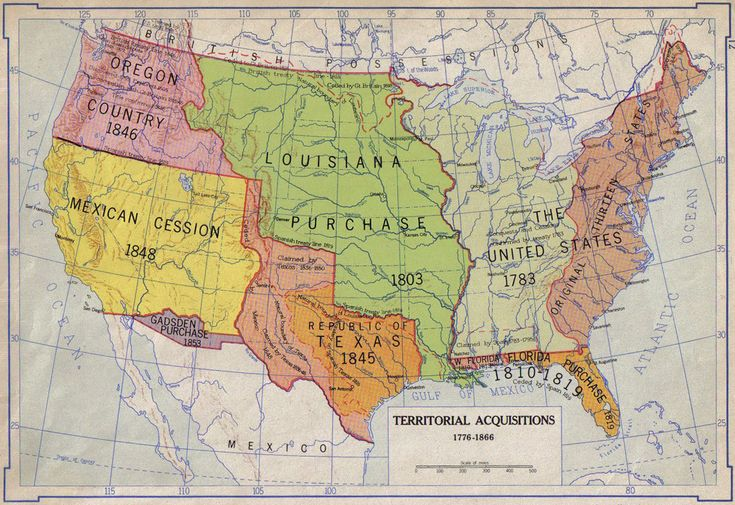 Territorial Acquisitions Historic Maps And Pictures - Us map in 1776