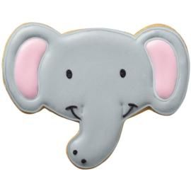 Smiling Elephant Cookies tutorial