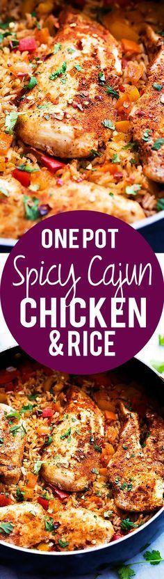 One Pot Spicy Cajun Chicken & Rice   Creme de la Crumb