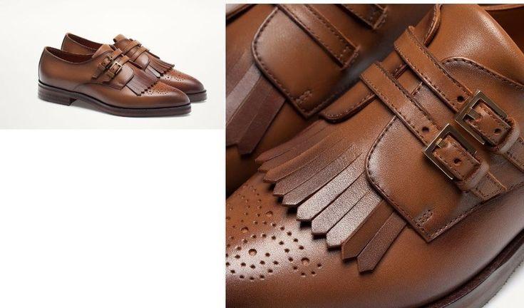 Woman Massimo dutti LEATHER MONK SHOES flat Bluchers Loafers & Moccasins brown #Massimodutti #LoafersMoccasins #Casual