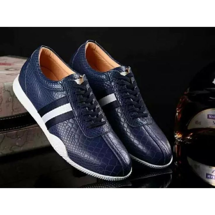 Bally Men's Blue Leather Sneakers free shipping huge surprise professional online LZrEcp9aO