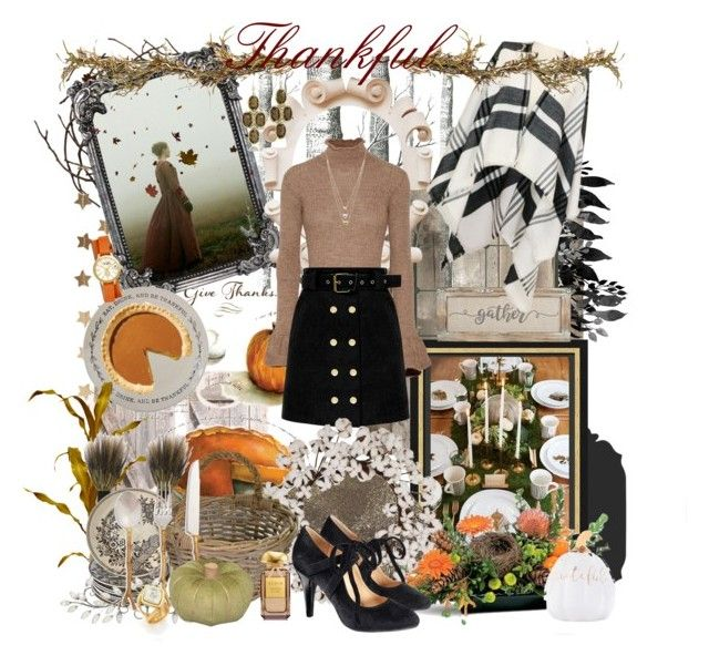 """We give thanks..."" by forget-me-not ❤ liked on Polyvore featuring Tempaper, Michael Aram, Berylune, Cole & Son, Tag, Acne Studios, Saro, Garden Trading, Sur La Table and Stephanie Kantis"