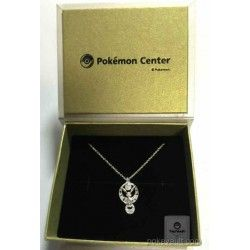 Pokemon Center 2015 Umbreon Moon Pendant Necklace With Moon Stone