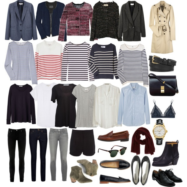 Paris packing list...lovely, but not 1 dress????!!!! Throw in a wrap or something!!!