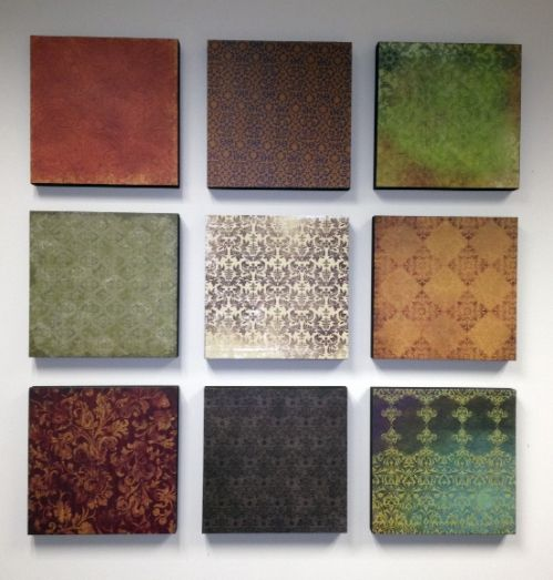Wall Art with Scrapbook paper! LOVE THIS!!