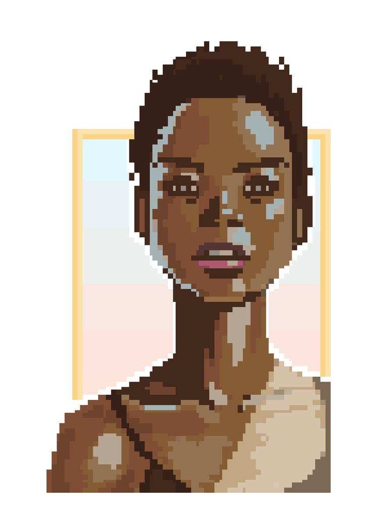 Pixel Mint Girl by FreeMech #pixelart