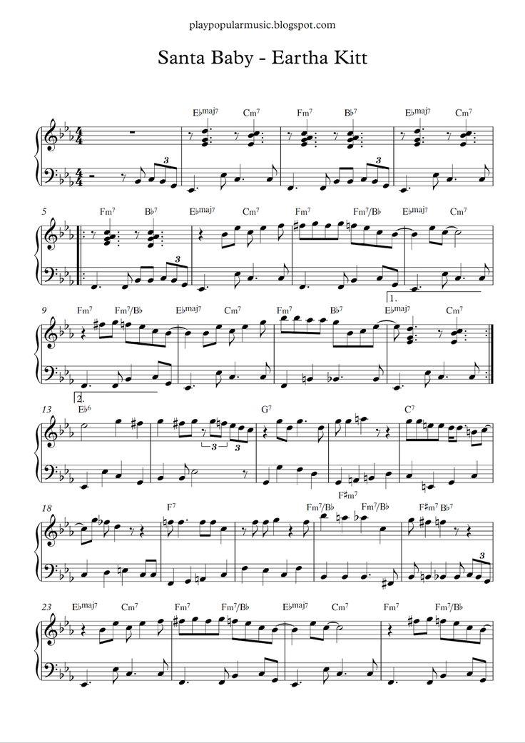 Free piano sheet music Santa Baby Eartha Kitt.pdf I'll