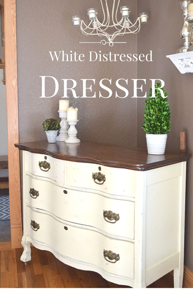 Distressed painted furniture ideas - White Distressed Dresser A Client S Vision Brought To Life