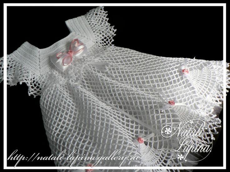 Meraviglioso abito da bambina all'uncinetto con sprone e punto rete.    fonte:http://www.liveinternet.ru/users/fler-d-orang/rubric/316456