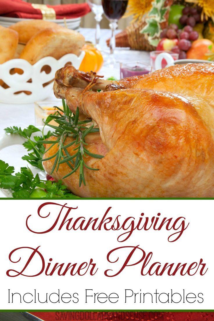 Elegant FREE Printable Thanksgiving Dinner Plan