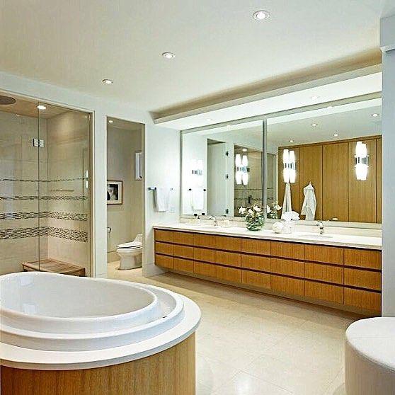 "Nothing like an 11'-0"" vanity! #masterensuite #luxury #interiordesign #douglasdesignstudio #modern #modernelegance #modernluxury #emanuelfurnituredesign"