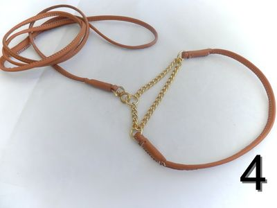 Plain leather show lead made to your exact requirements for any breed as we use a very strong inner core . These Show dog leads can be made as 2 separate ie collar and lead or as an all in one style