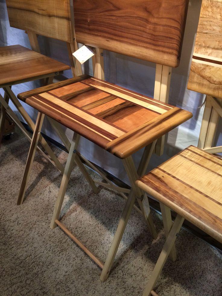 Gorgeous wood folding tables, Glenn Kirk, Kirk Wood Design